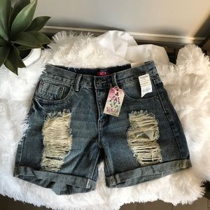 Sugar Distressed Shorts
